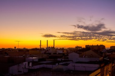 fireplaces with beautiful dawn in the city of Jerez de la fronte