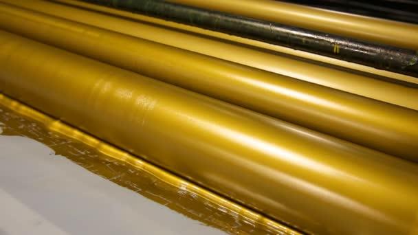 Tiskové válce zlatý inkoust vyvážit průmyslu