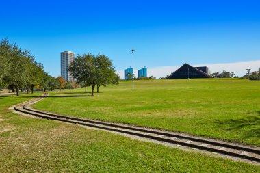 Houston Hermann park railway and Miller Theatre