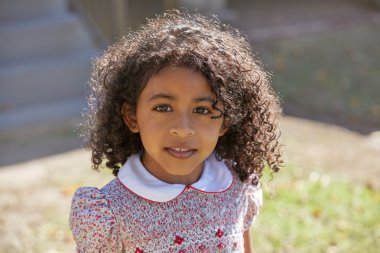 Toddler kid girl portrait latin ethnicity