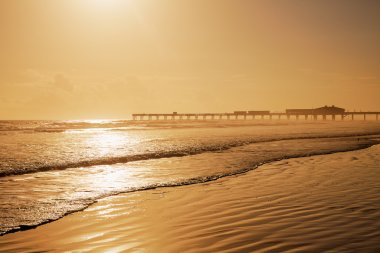 Daytona Beach in Florida with pier USA