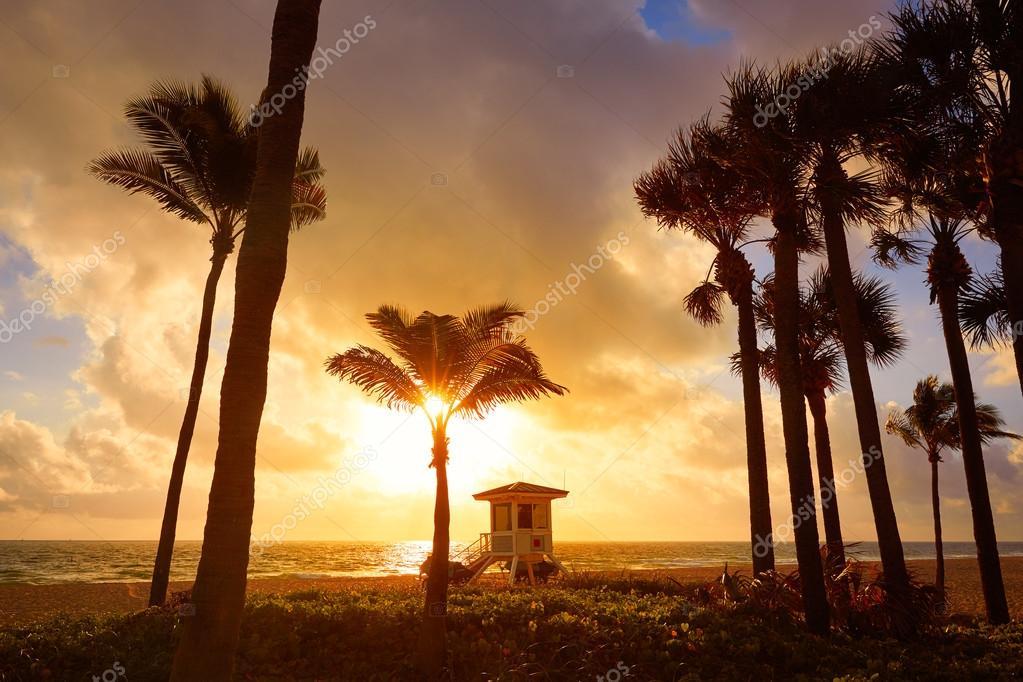 Fort Lauderdale Beach Sunrise Florida Usa Stockfoto Tono
