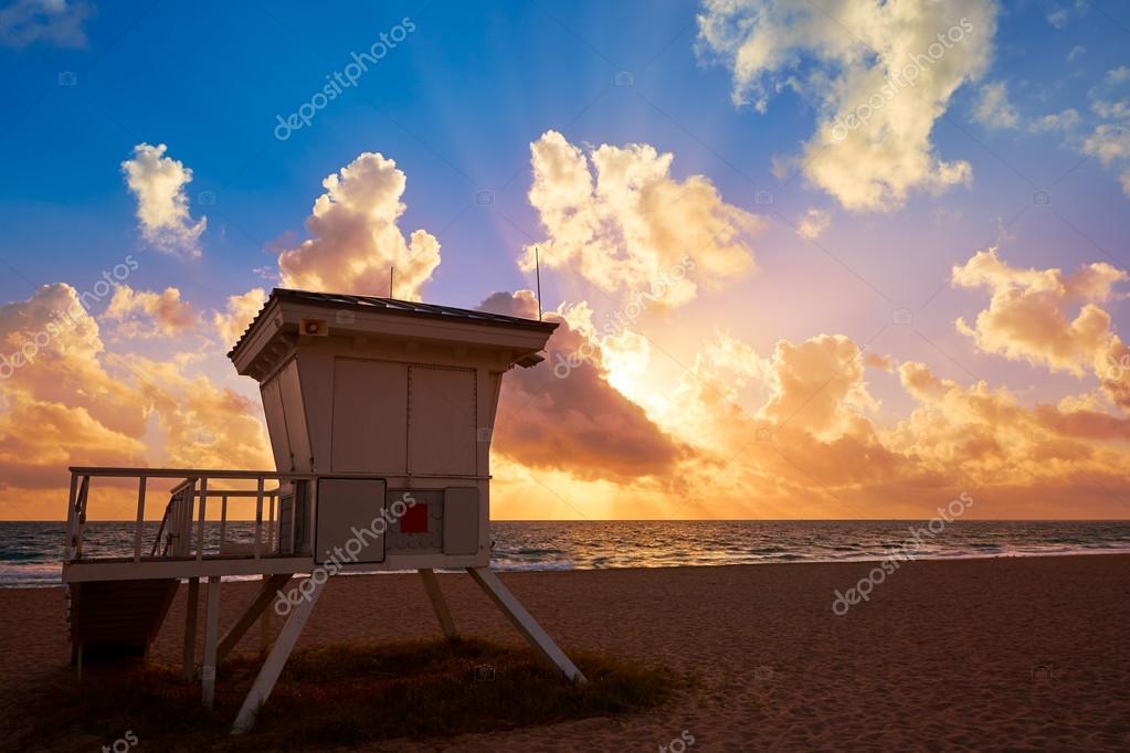 Fort Lauderdale Beach Sunrise Florida Usa Stockfoto Lunamarina