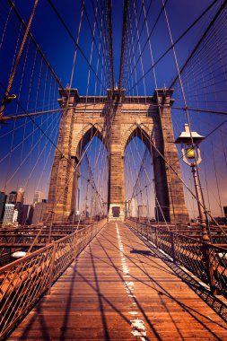 Brooklyn Bridge and Manhattan New York City US