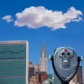 New York-i Manhattan napos skyline East River Nyc