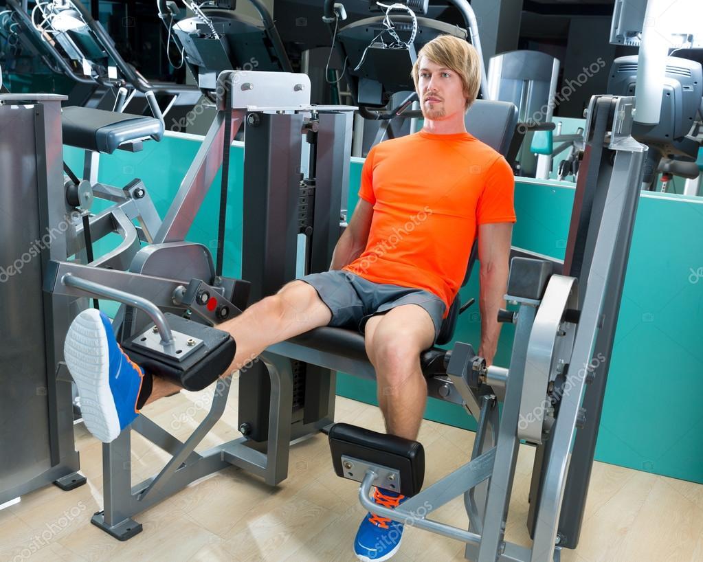 Gym Man Leg Extension Cuadriceps Exercise Stock Photo C Tono