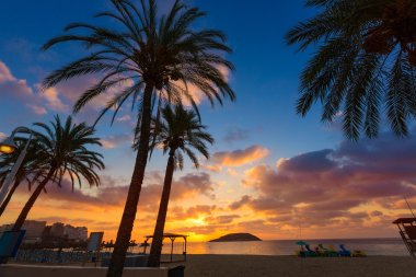 Mallorca sunrise in Magaluf Palmanova beach