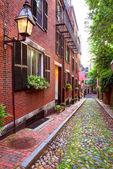 Fotografie Žalud ulice dlážděné Beacon Hill Boston