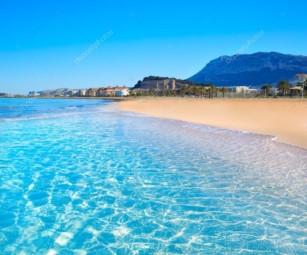 Fotos playa denia playa de denia en alicante en el azul - Stock uno alicante ...