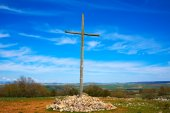 Photo Cruz de Atapuerca cross in Saint James Way