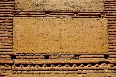 Way of saint James adobe mud walls at Palencia