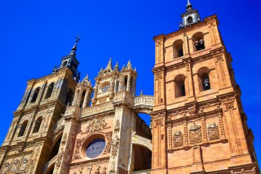 Astorga cathedral in Way of Saint James at Leon