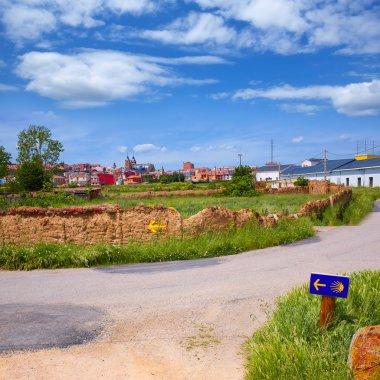 Saint James Way sign in Astorga Leon at Castilla