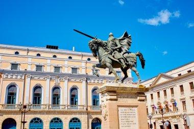 Burgos Cid Campeador statue in Castilla Spain