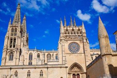 Burgos Cathedral facade in Saint James Way