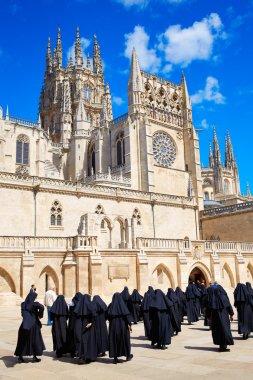 Burgos Cathedral facade in Saint James Way nuns