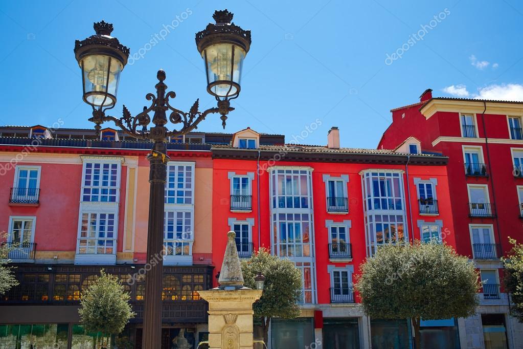 Burgos Plaza De La Libertad Square Castilla Spain Stock Photo
