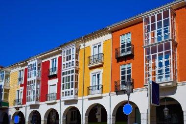 Burgos Street Santander arcades in Castilla Leon of Spain