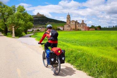 Castrojeriz biker on the way of Saint James