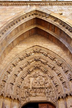 Cathedral of Leon gothic arch in Castilla Spain