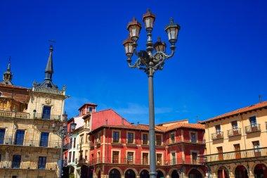Leon Plaza Mayor in Way of Saint James Castilla