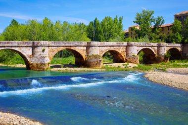 Bernesga river bridge in Leon Way of Saint James