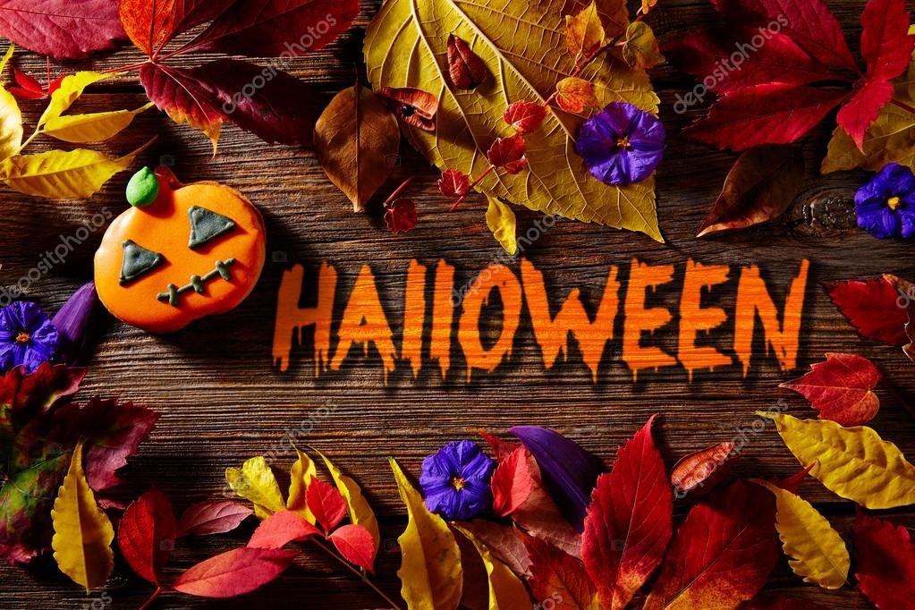 Halloween Fall Backgrounds Halloween Written Word Pumpkin