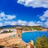 Tossa de Mar castle in Costa Brava of Catalonia