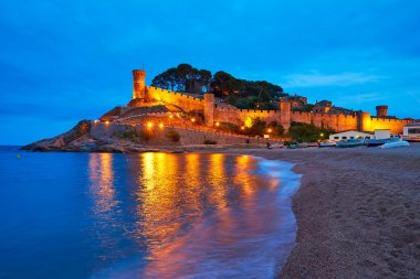 Tossa de Mar sunset in Costa Brava of Catalonia