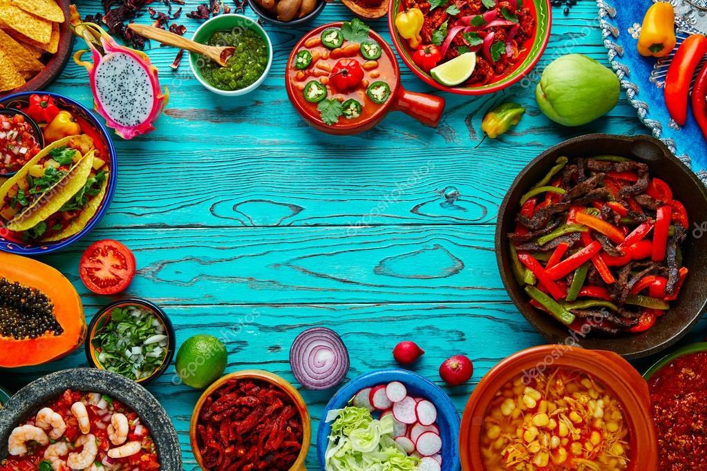 Fondo De Comida Mexicana: Fondo Colorido Mezcla De Comida Mexicana México