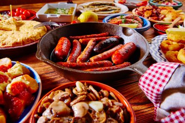 Tapas from spain mix of most popular