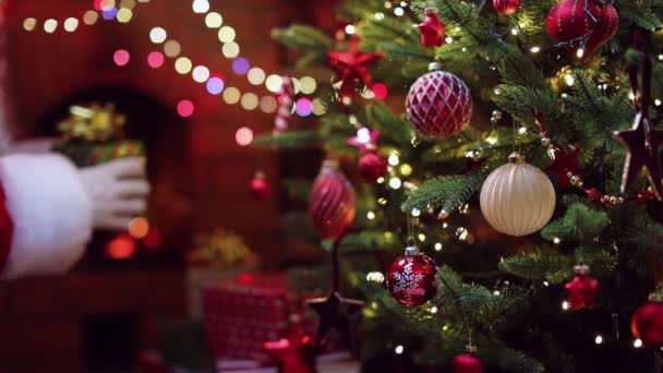 Vánoční strom a dárek od Santa Clause