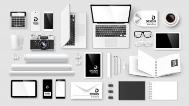 Mock Up set of corporate identity and branding. Vector