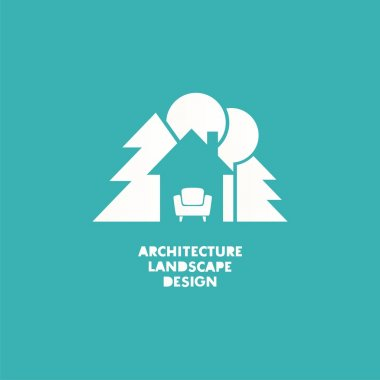 Logo house with sofa inside it. Vector logo design. Vector Illustration. stock vector