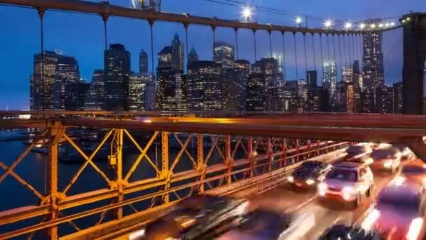 brooklyn bridge auto ampel timelapse - new york - usa
