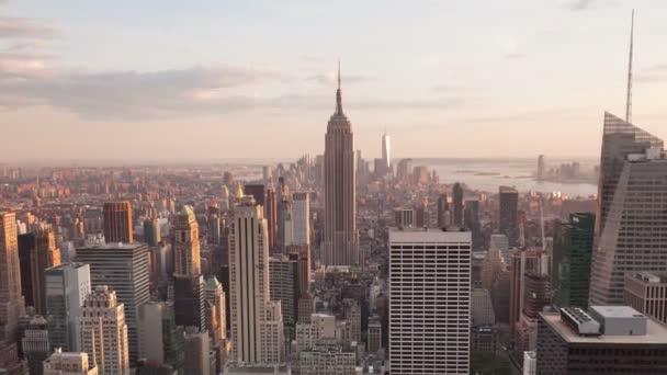 4 k letecké Sunset timelaspe Manhattan skyline - New York - USA