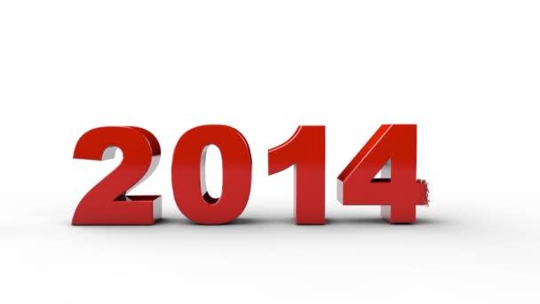 Nový rok 2015 a staré 2014, vykreslení 3d. nad bílým pozadím