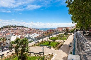 Lisbon rooftop from Sao Pedro de Alcantara viewpoint - Miradouro