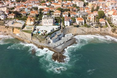 Aerial view of Estoril coastline near Lisbon