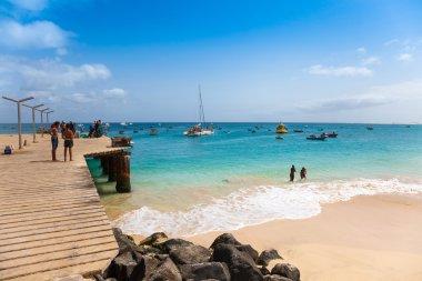 Santa Maria beach pontoon in Sal Island Cape Verde - Cabo Verde