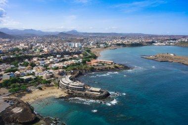 Aerial view of Praia city in Santiago - Capital of Cape Verde Is