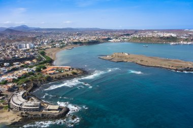 Aerial view of Praia city in Santiago - Capital of Cape Verde Is