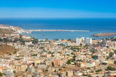 View of Praia city in Santiago - Capital of Cape Verde Islands -