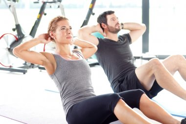 People training together at the gym