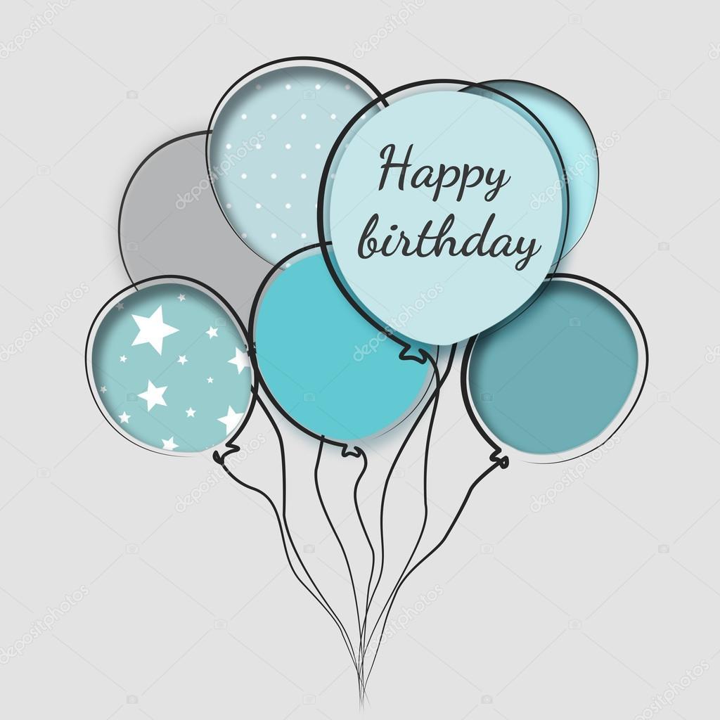 Cartão Com Aniversário Balões Fotografias De Stock Maestriadiz