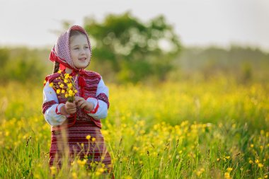 little girl in national costume