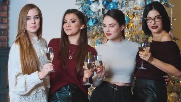 girls celebrate new year