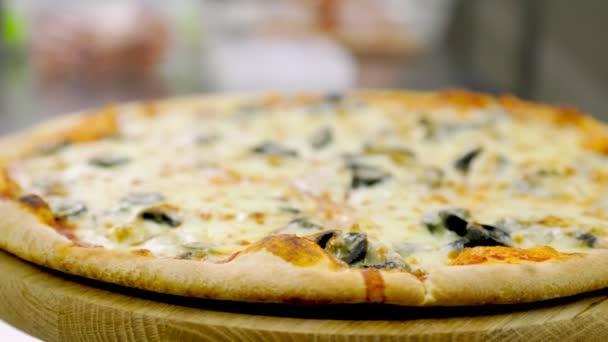 spřádání pizza close up