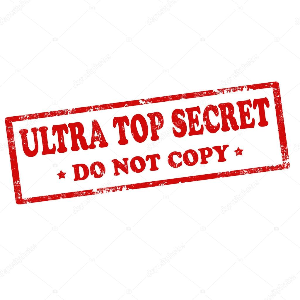 Ultra Top Secret Stamp Stock Vector