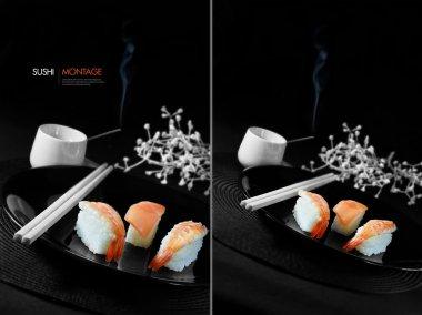 Japanese Sushi Montage